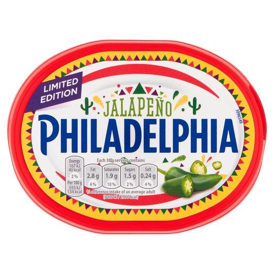 Jalapeno Philadelphia 170g £1 / 50p at Tesco with in-store magazine coupon