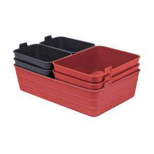 Set of 7 Flex Mini Trays - Coral & Grey £3 For Reserve & Collect Only @ Homebase