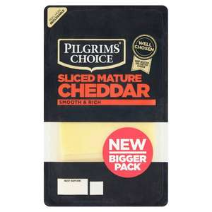 180g Pilgrims Choice, Smooth and Rich, Sliced Mature Cheddar Cheese 79p @ Heron Foods Abbey Hulton.