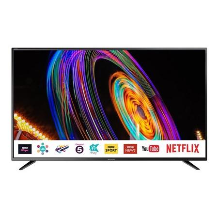 """Sharp LC-65CUG8052K 65"""" UHD 4K Smart TV + £25 Netflix Code £479 Delivered @ Box"""