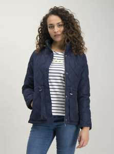 Navy Quilted Shower Resistant Padded Jacket (Sizes 10 /12 / 14) £13.50 click and collect online at TU Sainsburys