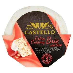 180g Castello Brie, with Chilli Flake, Extra Creamy, Velvety Soft, Cheese Just 89p @ Heron Foods Abbey Hulton