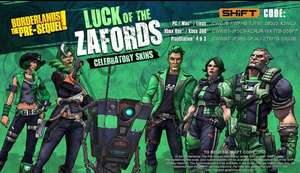 Borderlands Pre-Sequel & Borderlands 2 St Patrick's Day Skins Pack Free (PC, PS4 and Xbox One)