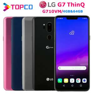 "LG G7 ThinQ G710VM Original Unlocked 64GB ROM 4GB RAM LTE Android Snapdragon 845 Octa Core 6.1"" Dual 16MP £165.65 @ Topco AliExpress"