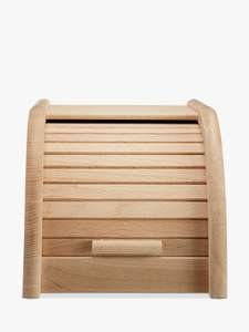 John Lewis - Classic Wood Roll Top Bread Bin - H18 x W20 x D30 - £12.50 + £2 C&C or Check Stock Instore