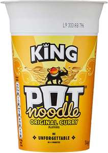 Pot Noodle King Original Curry Flavour / Chicken and Mushroom / Beef & Tomato 114 g (Pack of 12) £8.40 at Amazon (£7.98 S&S)