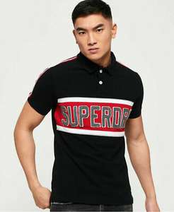 Mens Superdry Mens Retro Sports Applique Polo Shirt Blackboard £15.99 Superdry on eBay