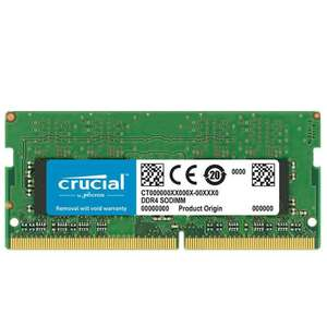 Crucial 8GB DDR4 2666MHz (PC4-21300) CL19 Unbuffered SODIMM 240pin 1.2V Single Ranked Memory Module - £25.99 Delivered @ 7dayshop