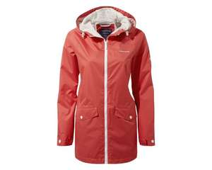 Ladies Delcine Waterproof Jacket Rio Red £60 + Free click and collect From Craghoppers