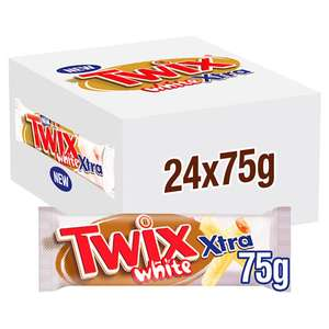 Box of 24 Twix White Xtra (75g bars / BBE May 2020) £10 / £9.50 For New Account Using Code - Free Delivery @ Yankee Bundles