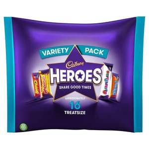 Heroes Variety Pack 225g Treat Size 99p at Farmfoods Plymouth