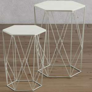 LOFT white wire nest of tables £36.99, Mint colour £32.99 + Free next day delivery Marks & Spencer