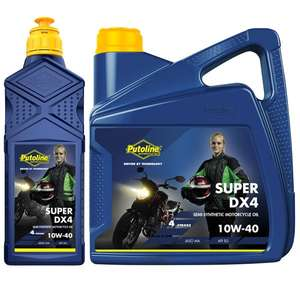 Putoline DX4 10W40 Semi-Synth Motorcycle Oil 4 litres £24.15 at Sportsbikeshop