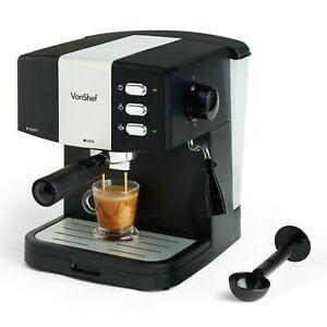 VonShef 15 Bar Coffee Maker Machine Espresso Latte Cappuccino Barista Style - £59.99 @ domu-uk eBay