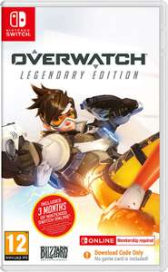 Overwatch Legendary Edition (Nintendo Switch) code in box with 3 Months NSO - £17.99 (Prime) £20.98 non prime @ Amazon UK