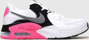 Nike white & pink air max excee trainers - sizes 3 to 8 - £64.99 delivered at Schuh