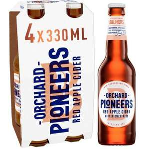 Bulmers Orchard Pioneers Red Apple Cider 5% (4 x 330ml bottles) £1.49 instore @ Home Bargains in AUL