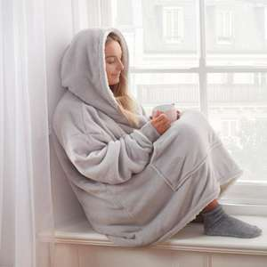 Sienna Supersoft oversized hoodie blanket in various colours for £13.98 delivered @ Online Home Shop