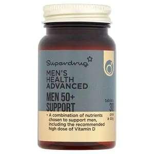 Superdrug Men's Health Advanced Men 50+ Support 30 Tablets (Multivits+CoQ10), 60p And 3 For 2, In Store @ Superdrug (Argyle Street, Glasgow)