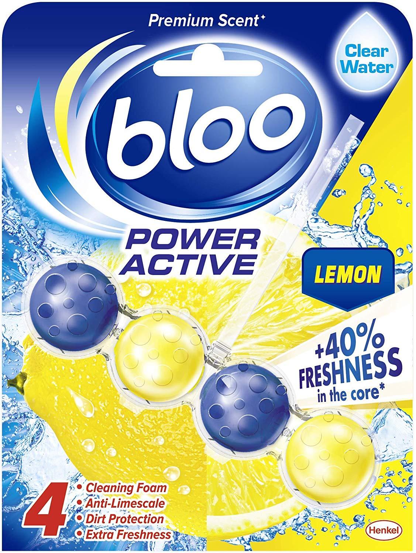 Bloo - Power Active, Lemon - Toilet Rim Block, 50 g - Case of 10 £10 (Prime) + £14.49 (non Prime) at Amazon