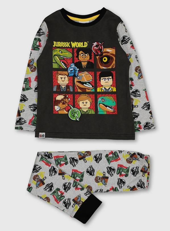 Lego Jurassic World 100% Cotton Grey Pyjamas - 8-9 years £6 / 9-12 years £6.50 +free Click & Collect @ Argos