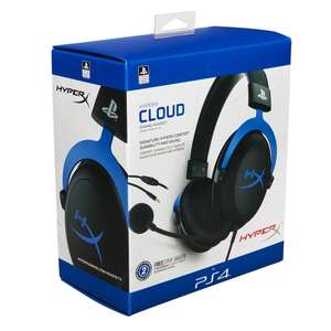 HyperX Cloud gaming headset for PS4, Click & Collect only £30 @ Smyths