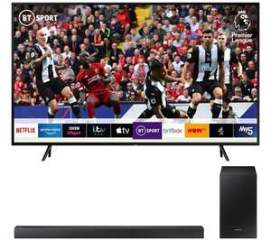 SAMSUNG QE65Q70RA Smart 4K Ultra HD HDR QLED TV with Bixby & HW-R450 2.1 Wireless Sound Bar Bundle Free 5 year guarantee £999 @ Peter Tyson