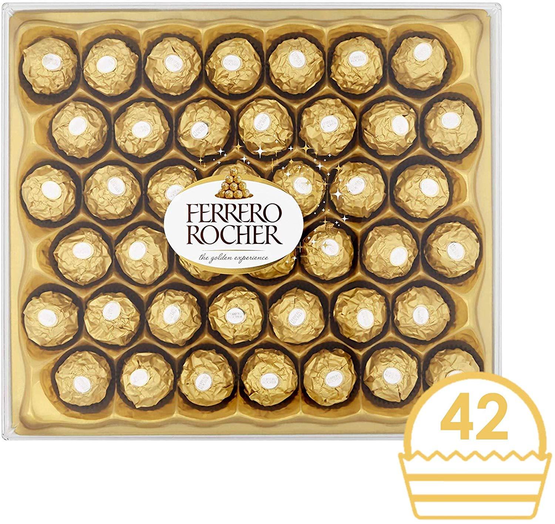 Ferrero Rocher Chocolate Gift Set, Box of 42 Pieces - £10 Prime / +£4.49 non Prime @ Amazon