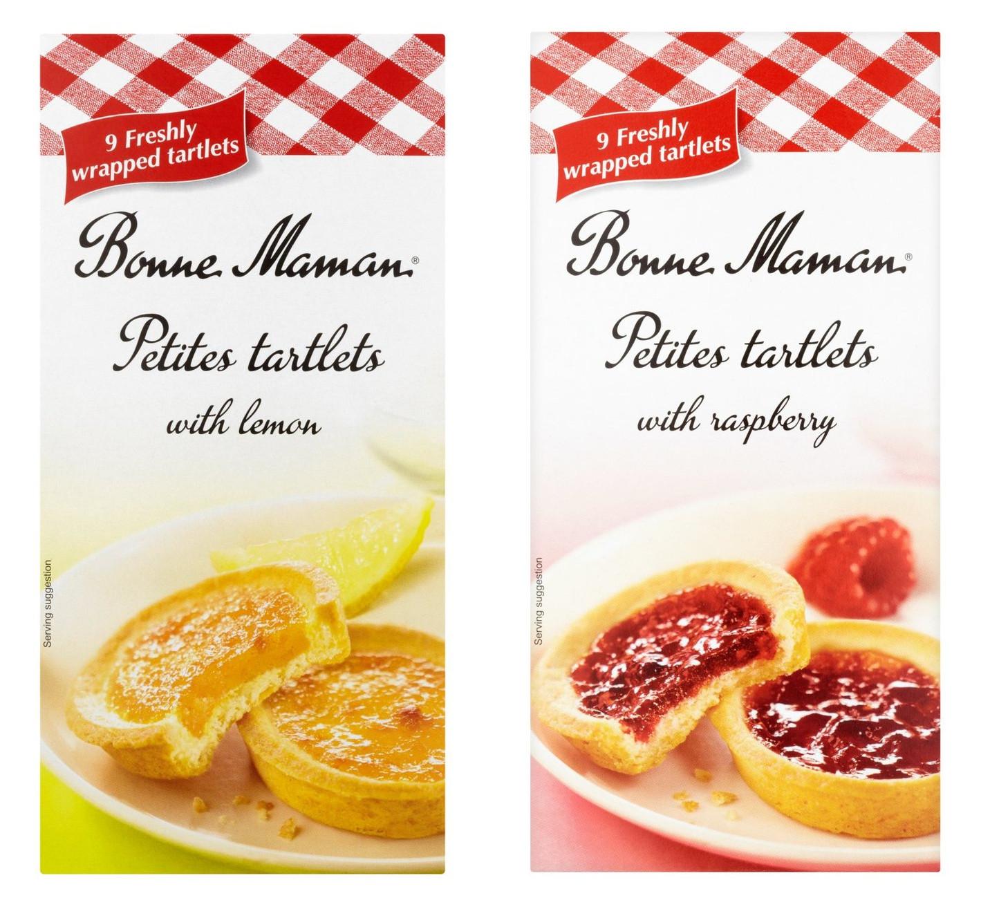 Bonne Maman Petites Tartlets With Lemon or Raspberry 9 Freshly Wrapped Tartlets - 75p @ Morrisons