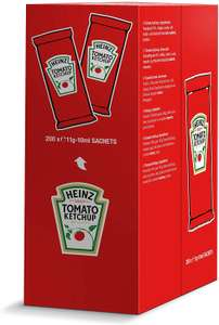 Heinz Tomato Ketchup, 10 ml (Pack of 200) - £15.13 / HP Brown Sauce, 10 ml (Pack of 200) - £15.07 Prime / +£4.49 non Prime @ Amazon