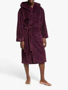John Lewis & Partners High Pile Hooded Robe, Red/Black £17.50 (+£2 C&C or £3.50 Delivery) at John Lewis and Partners