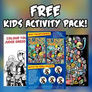 Free kid's activity pack from 2000AD