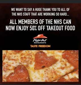 Pizza Hut 50% off Takeout Food for NHS staff on collection