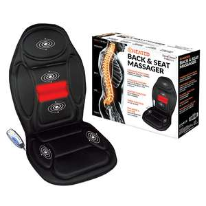 ELECTRIC HEATED BACK & SEAT MASSAGER CHAIR CUSHION - £15 @ Yankee Bundles