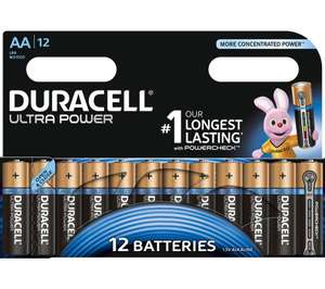 Duracell Ultra AA 12 pack for £7.29 at Currys in-store & online - FREE delivery
