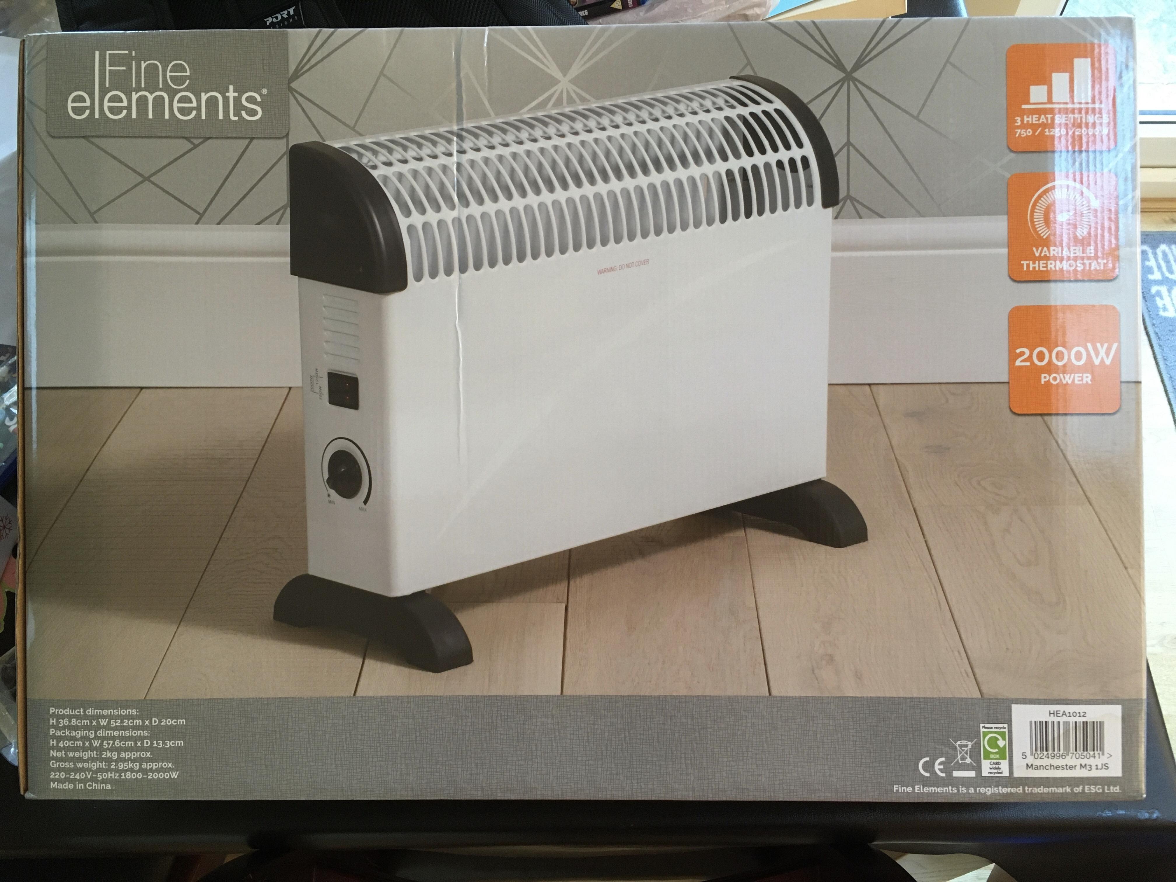 Fine elements 2000w heater £3.50 @ Tesco (Watford)