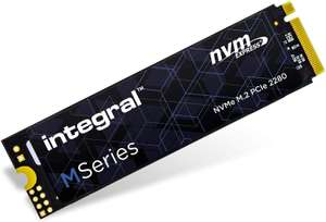 Integral M Series 256GB NVMe M.2 Internal SSD, Up To 2000MB/s Read 1200MB/s Write - £33.56 Delivered @ Amazon