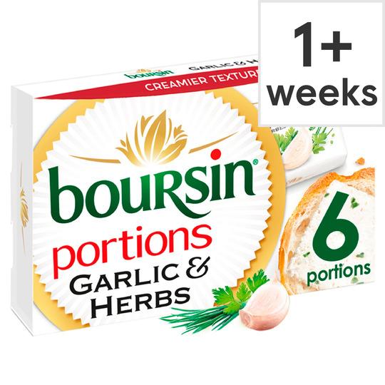 Boursin Garlic & Herbs 6 Pack 96G 39p @ Heron Foods - Kingston Upon Hull