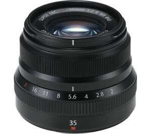 Currys New Black Fuji FUJIFILM Fujinon XF 35 mm f/2.0 R WR Standard Prime Lens £305.15 at Currys eBay