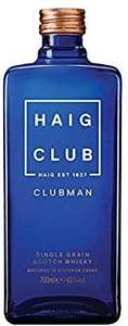 Haig Club Clubman Single Grain Scotch Whisky, 70cl £16 Prime / £20.49 Non Prime at Amazon