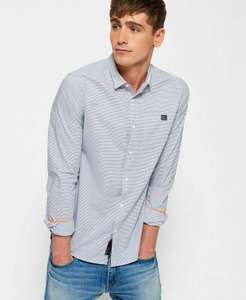 New Mens Superdry Mens Poolside Slim Shirt Avalon Blue Stripe - £12.79 delivered @ Superdry / eBay