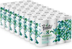 32 Rolls, Presto! TAD Kitchen Rolls 32 Pack (32 x 51 2-ply-sheets) could save an extra 5% with subscription @ Amazon £40.60