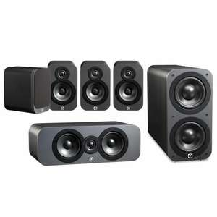 Q Acoustics 3010 x2, 3090C and 3070S Subwoofer (Graphite) @ Richer sounds for £429