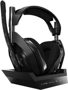 ASTRO Gaming A50 Wireless Gaming Headset + Base Station Gen 4 for PS4 & PC - Black/Silver (with Dolby Audio) Amazon