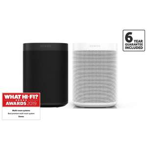 Sonos ONE (GEN 2) (X2) Sonos One Bundle + 6yr warranty and free delivery @ RicherSounds