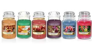 6 Large yankee candles delivered for £60.29 (possibly approx £48 after Cashback) @ Groupon
