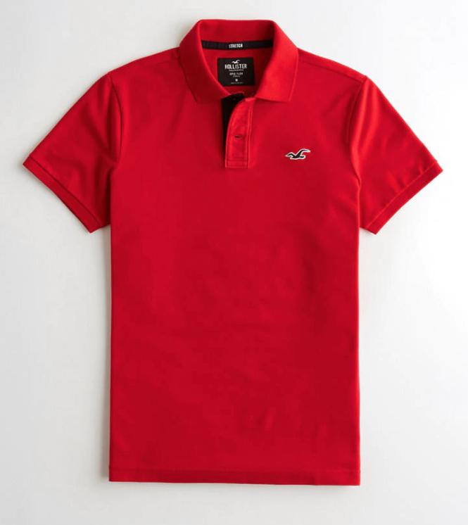 Hollister Polo shirt - red £5.52 delivered @ Hollister