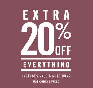 20% off everything with voucher code @ Moss Bros