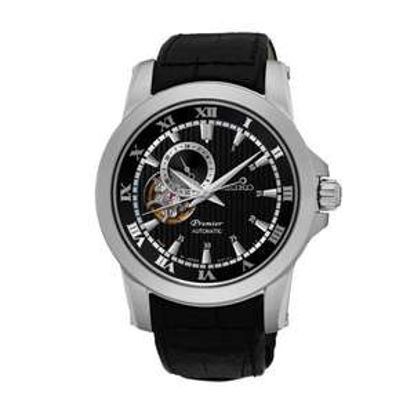 Seiko Premier Black Open Heart Gents Watch SSA277J2 - £199 @ AMJ Watches
