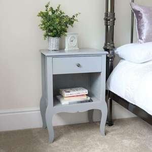 Country Style Single Drawer Bedside Table £22.99 Using Code @ eBay / Wido-uk